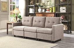 INFINI FURNISHINGS IND6013-9 Modular Sectional Sofa, Taupe G