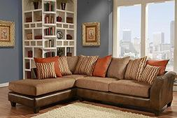 Chelsea Home Furniture Iota 2-Piece Sectional, McLarin Saddl