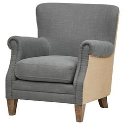 "Stone & Beam Jacobsen Traditional Accent Chair, 31""W, Grey"