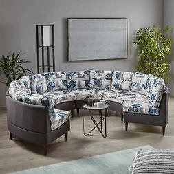 Jazmine Contemporary 6-Seat Modular Fabri Sectional Sofa by