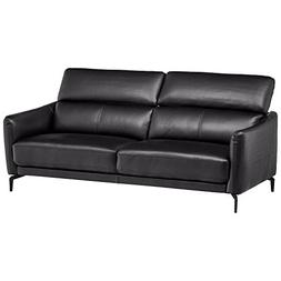 Rivet Kaden Contemporary Adjustable Headrest Leather Sofa, 7