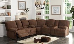 AC Pacific Kevin Collection Contemporary 3-Piece Upholstered