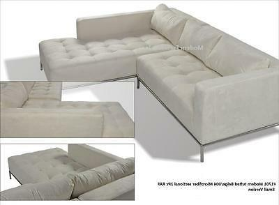2PC tufted Sectional Sofa #1701 beige