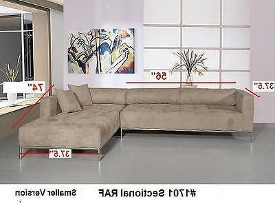 2PC Modern tufted Sectional #1701 beige