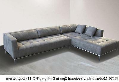2PC Modern Fabric Sectional #1701 beige