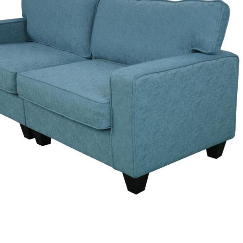 2PCS Set Upholstered Loveseat Sectional Armrest