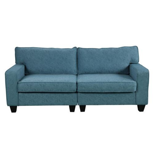 2PCS Set Upholstered Sectional Blue