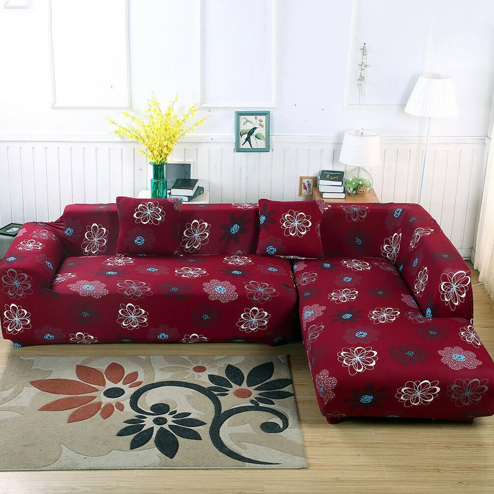 2pcs Stretch L Type Couch
