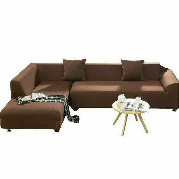 2Pcs Covers For L-Shape Stretch Slipcover