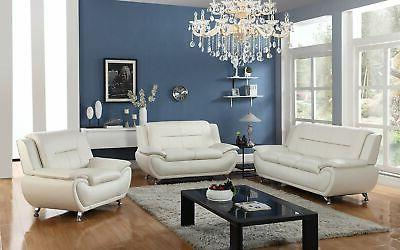 3 pc leather sofa sectional sets white