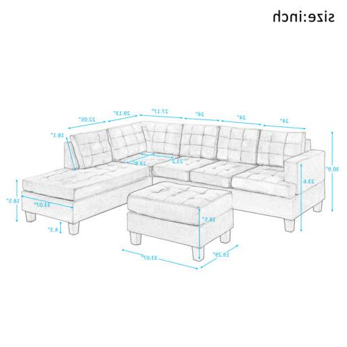 3-Piece Sectional Lounge L-Shaped
