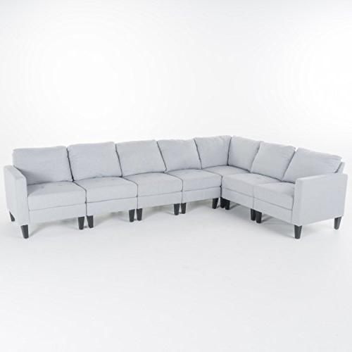 Christopher Knight Home 7 Piece Zahra Sectional Couch,