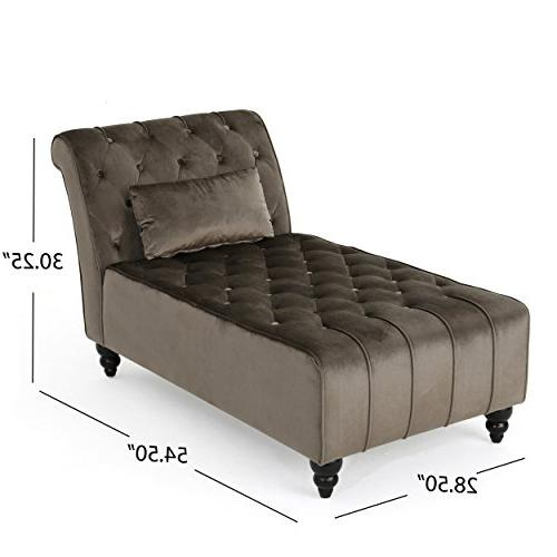 Christopher Home Rubie Chaise Grey