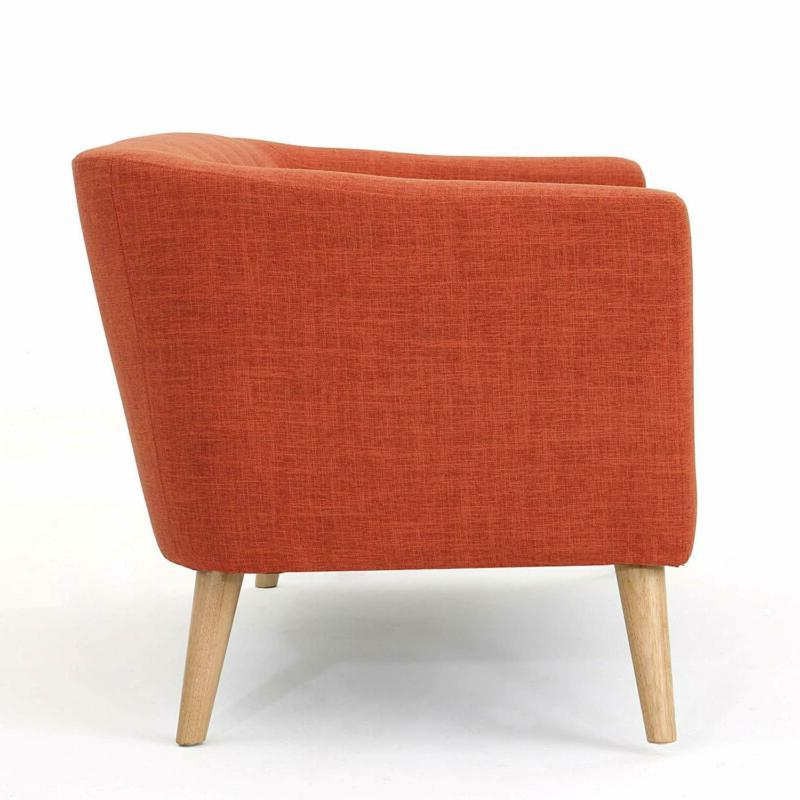 Christopher Bridie Loveseat, Muted Orange
