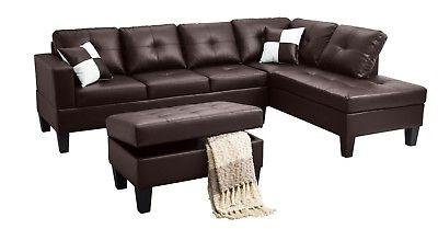 3pc sectional modern sofa set left or