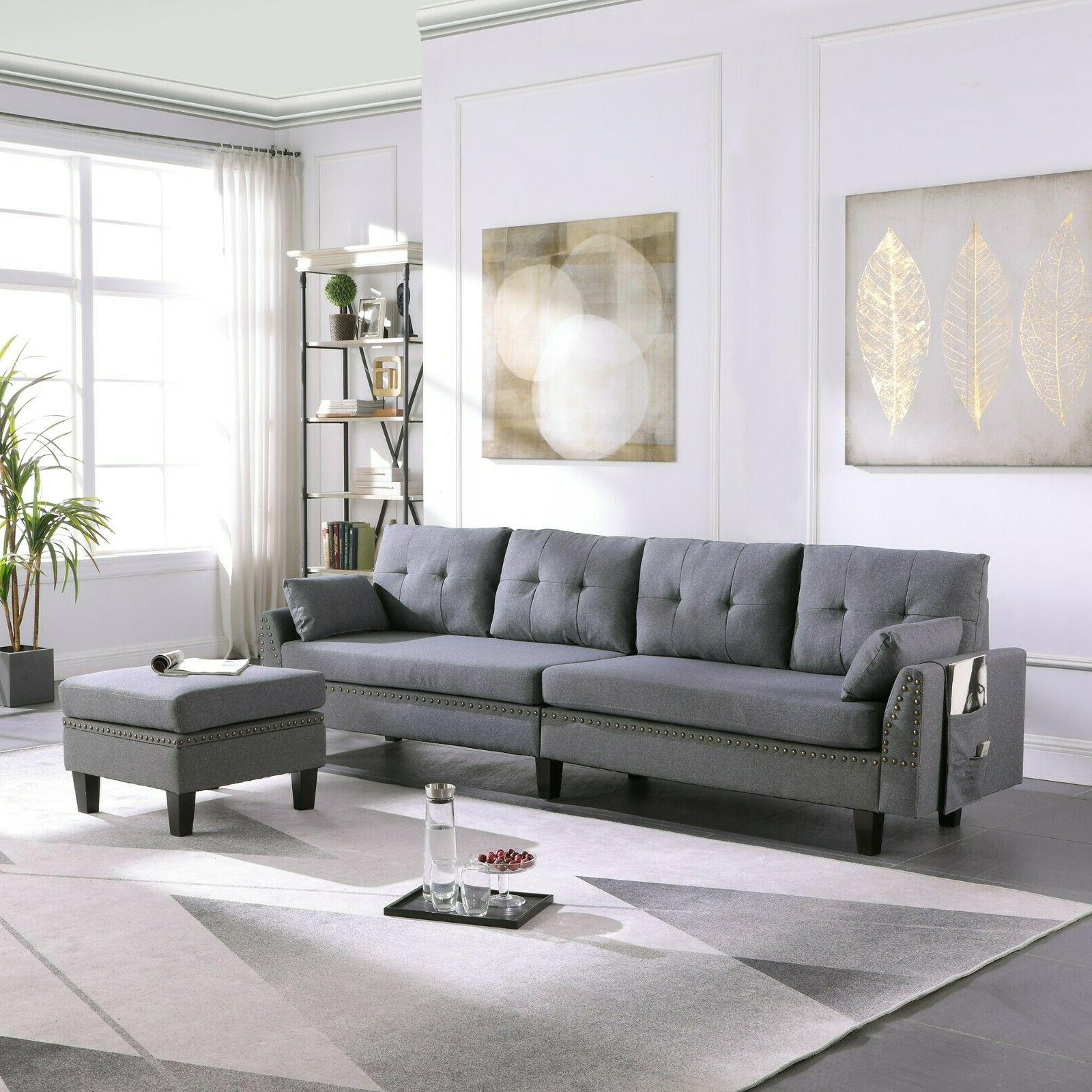 4 seaters sectional sofa couch with storage