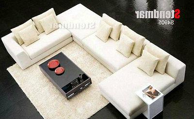 4pc new modern euro design fabric sectional