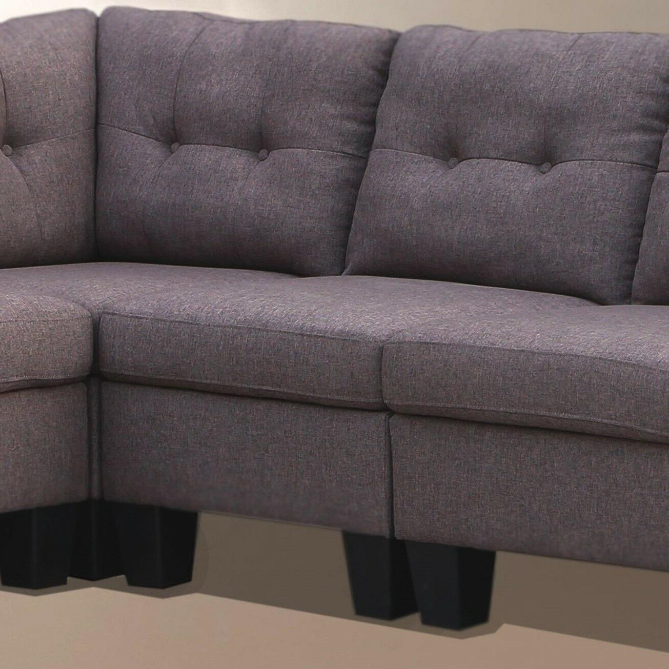 4pcs Sectional Modern Casual Armless Chair Corner