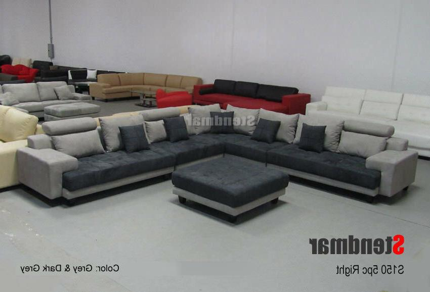 5-Piece Contemporary Fabric Sofa