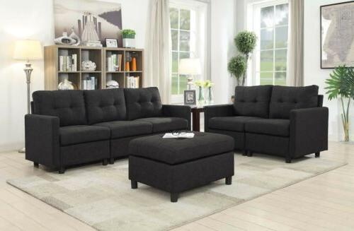 5 seat contemporary sofa set modern sectional