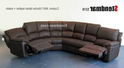 6PC LEATHER SECTIONAL SOFA 2-RECLINERS S318