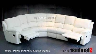 6PC NEW LEATHER SECTIONAL SOFA 2-RECLINERS S318