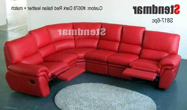 6pc new modern leather sectional sofa 2