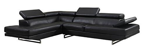 8136 black laf sectional leather