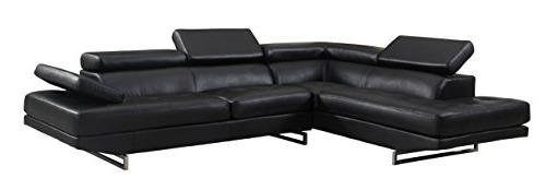 8136 black raf sectional leather