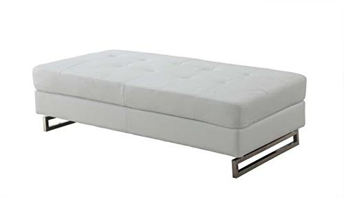 Blackjack 8136-WHITE-LAF Leather Match Left-Facing Sectional, White, Piece