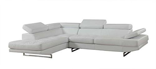 8136 white laf sectional leather