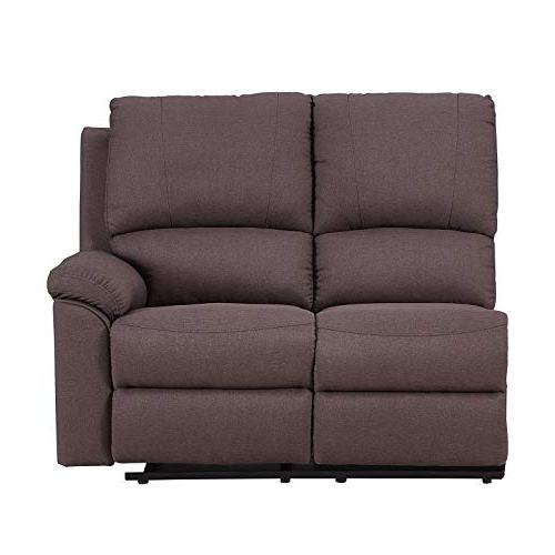 """Blackjack 9241-BROWN-PWR-SECT Ultra Modern Power Reclining Sectional, 128"""", Brown"""