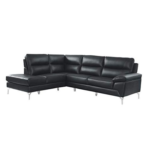 9969 genuine leather upholstered sectional