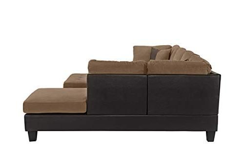 Case Milano Microfiber Sofa with Ottoman,