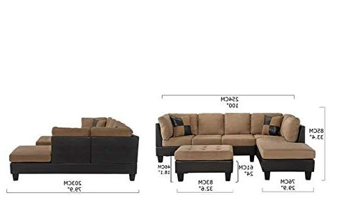 Case Milano Microfiber Leather Sectional Sofa