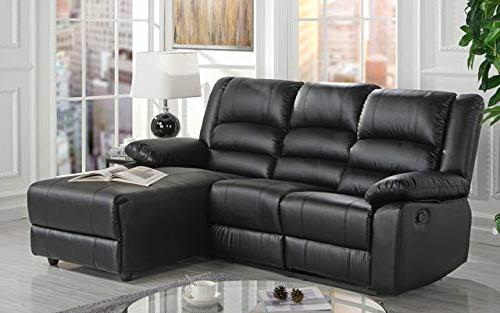 Case Milano Leather Sectional Sofa with Single