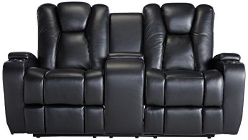 Delange Power Loveseat with and Storage Armrests