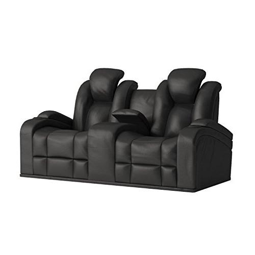 Delange Power Loveseat with Headrests and Storage in Armrests