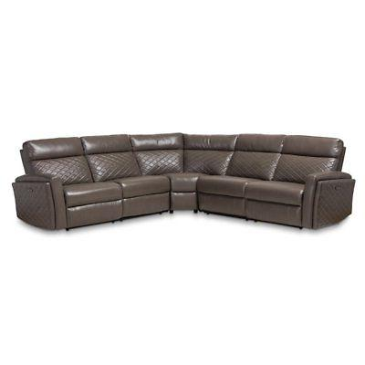 alvar grey faux leather 3 piece sectional