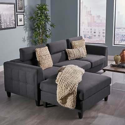 amias modern chaise sectional sofa set by