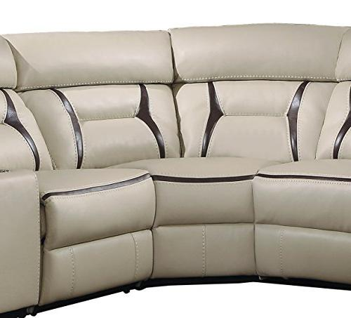 Homelegance 6-Piece Reclining Sectional with Cup Holder Gel Matched,