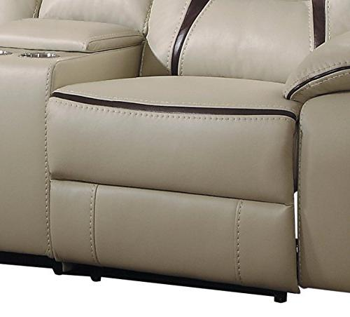 Homelegance Amite 6-Piece Power Reclining Cup Leather Gel