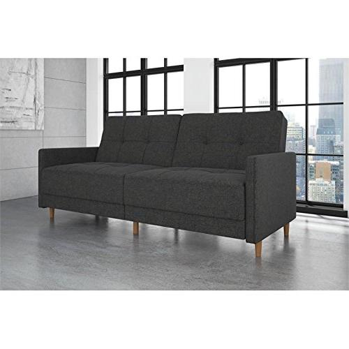 DHP Andora Sofa Bed with Mid - Grey Linen