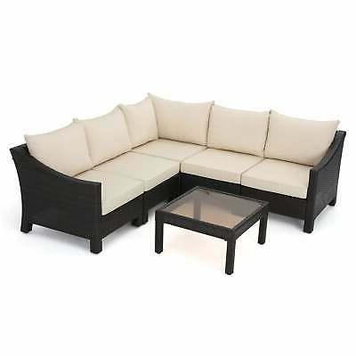 Antibes Outdoor 6-piece Shaped Sofa with