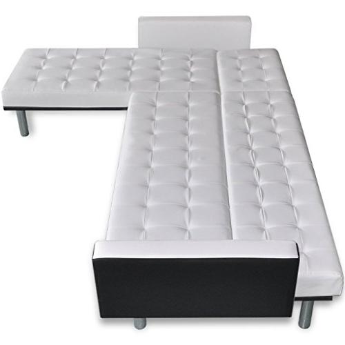 Festnight Artificial L-shaped Sofa for Room,