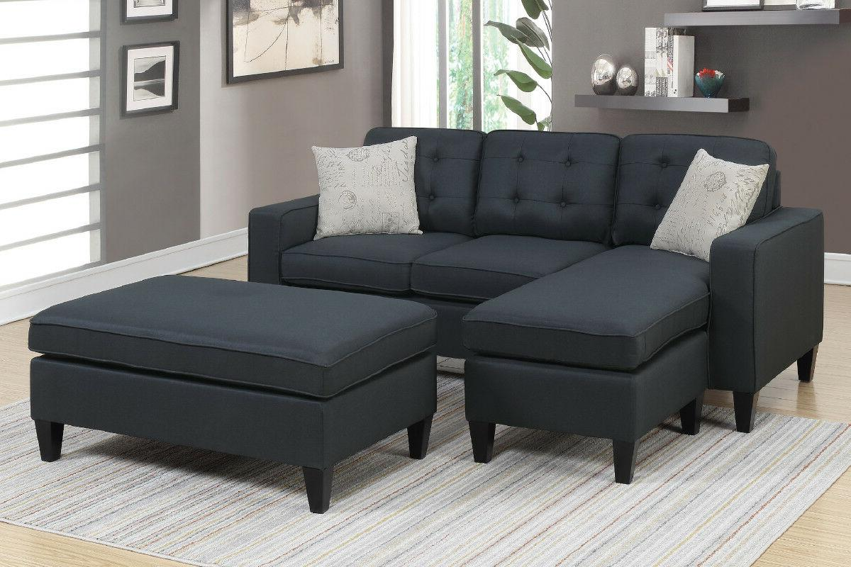 black all in one sectional 3 pcs
