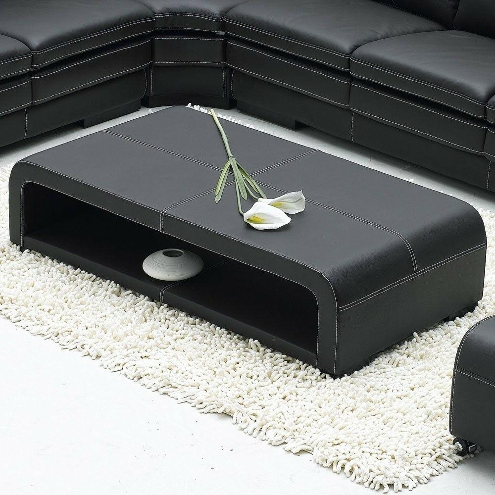 Black Sectional Sofa Table and Ottomans