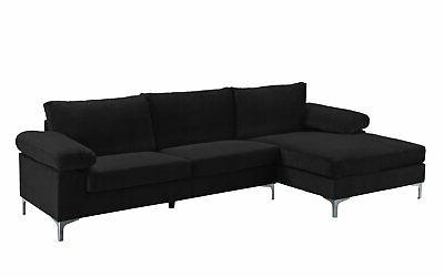 Black Large Sectional with Extra