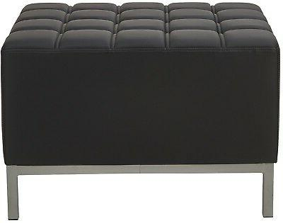 Black Ottoman Sofas Corner Armless Sectional Tufted Reception