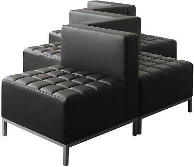 Black Armless Sectional Reception
